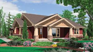 Large One Story Homes by Home Design One Story Craftsman House Plans Scandinavian