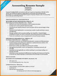 Cpa Resume Exampleaccounting Examples Accounting Sample Companion Public