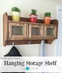 entryway hanging storage shelf