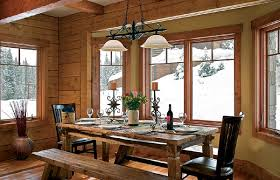 Family Style Dining Is Simple With The Eagles Nest Room Long Teak Table Offers Bench Seating And Two Grand Chairs