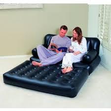 canapé lit gonflable maison futee canapé lit gonflable 3 en 1 noir pompe incluse
