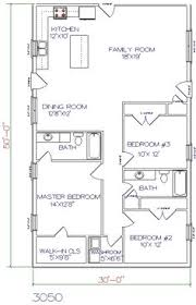 stylish and peaceful 14 30x50 metal building house floor plans