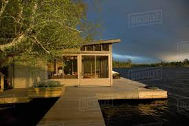 100 Lake Boat House Designs House Of The Woods Ontario Canada Stock Photo