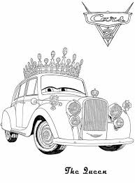 The Queen Coloring Pages For Kids Cars 2