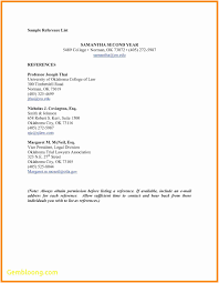 Reference Page Format Resume Best Template References Of Professional