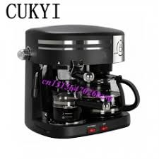 CUKYI 3 In1 Automatic Coffee Machine American Vacuum Drip Italy Espresso Maker Black