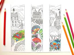 Printable Bookmarks To Color Lineart Coloring PDF