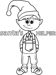 Printable Elf On The Shelf Coloring Pages Free Sheets Christmas