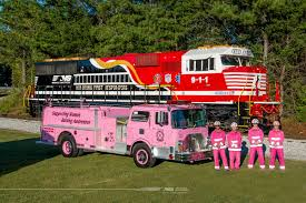 """Norfolk Southern — First Responder Volunteers With The """"Pink Heals... Pink Heals In Town Winonadailynewscom Monster Fire Trucks Teaching Numbers Colors For Toddlers Pink Fire Truck Helps Cancer Patients Chicagoaafirecom Livonia Professional Firefighters August 22nd Blog Post Vinton Davenport Lutheran Homes Green Toys Truck Accsories Amazon Canada Meet Gi From The Savannah Georgia Chapter Http Massfiretruckscom Still Tough Enough To Wear Support Breast Department Town Of Oklahoma Makes Its Way Greenfield Families"""