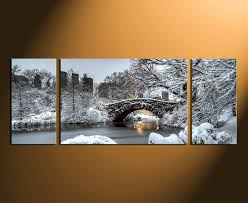Marvellous Inspiration 3 Piece Wall Decor Or Canvas Art Panoramic Photography Scenery Snow Tree Home Set