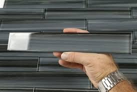 black glass subway tile backsplash home design ideas
