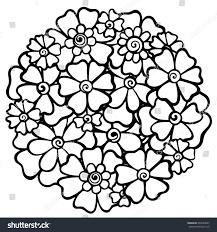Flowers Vector Doodle Zentangle Ethnic Coloring