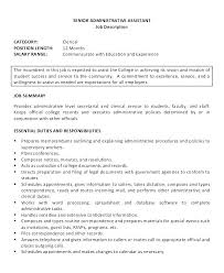 Executive Administrative Assistant Resume Examples Senior With No Experience