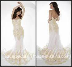 china white chiffon party prom gown vestidos gold lace evening