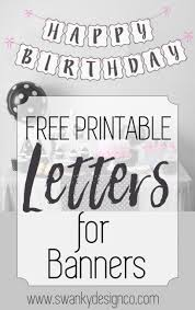 Free Printable Letters for Banners Black and White