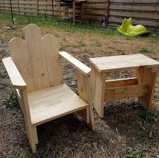 Pallet Rocking Chair And Table