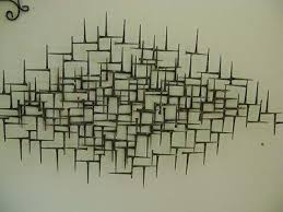 Stylish Mid Century Modern Metal Wall Art M88 About Interior Decor Home With