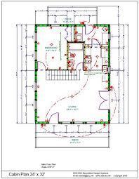 30 X 30 With Loft Floor Plans by 24 U2032 X 32 U2032 Cabin Plan Free House Plan Reviews