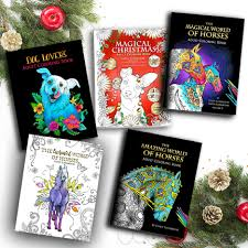 Adult Coloring Book Bundle 5 Set The Amazing World Of Horses Magical