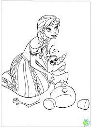 Frozen Coloring Anna Disney Princess