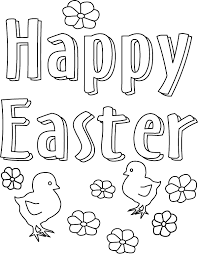 Easter Coloring Page Happy