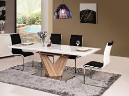 alaras table de salle à manger en chêne blanc laqué 90 x 160 x 75 cm