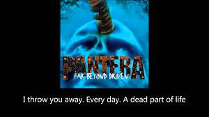 pantera shedding skin lyrics youtube