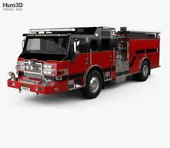 100 Pumper Truck Pierce E402 Fire 2014 3D Model Vehicles On Hum3D