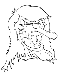 Very Scary Halloween Coloring Pages 124