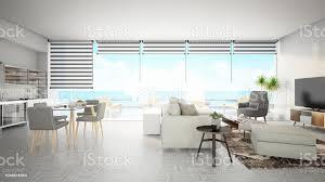 modernes wohnzimmer mit blick aufs meer stockfoto und mehr bilder architektur