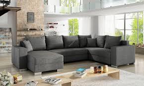 couchgarnitur marco als u form mit schlaffunktion und 2