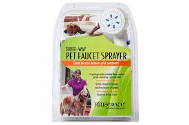 bath a dog faucet dog shower 3 way pet faucet sprayer rinse ace