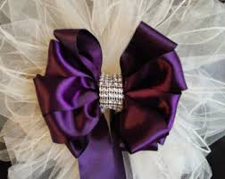 Wedding Pew Bows Any Color Satin And Tulle With Streamers Bling Decorations