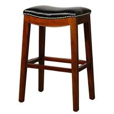 Black Leather Bar Stools by Elmo Bounded Leather Bar Stool