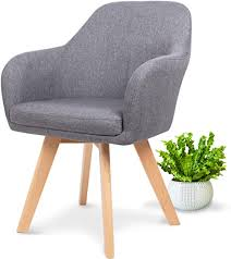 wonea polsterstuhl grau mit armlehnen polsterstuhl mit lehne polsterstuhl holz beine esszimmerstuhl in grau mit echtholz stuhlbeinen stuhl mit