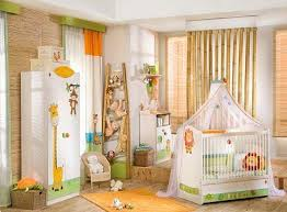 Wonderful Jungle Baby Room Ideas Excellent Safari Decorating With White Furniture Animal Painting And Wooden Floor