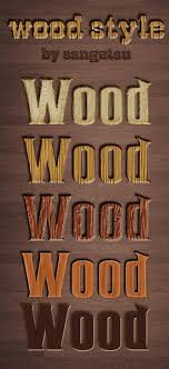 Photoshop Wood Style Free Download