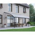 Palram Patio Cover Grey by Palram Joya 10 Ft X 18 Ft Grey Patio Cover Awning 704454 The