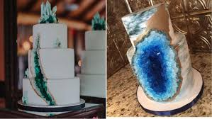 Cake Decoration Ideas With Gems by Wedding Cakes That Rock Geode Cakes Are Trendy And Gorgeous