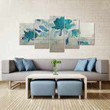 Painted Hand 3 Piece Canvas Wall Art Sets Wrapped Gallery Square Rectangle Abstract Petals Flower Floral