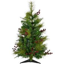 36 Ft Newberry Pine Artificial Tree With Battery Operated
