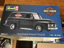 100 1955 Ford Panel Truck WIP Finished 4142017 Scale Auto