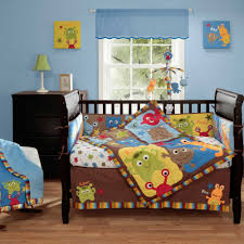 Bacati Crib Bedding by Amazon Com Baby Monster 4 Piece Baby Crib Bedding Set With