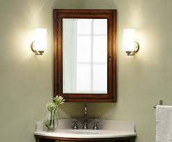 Home Depot Bathroom Cabinet Mirror by Wood Recessed Medicine Cabinet With Mirror Home Depot Bathroom