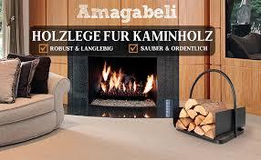 amagabeli holzkorb kaminholz 45 x 30 x 43cm kaminholzkorb brennholzkorb metall feuerholzkorb holzwiege kamin aus stahl mit henkel tragekorb für holz