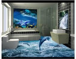 3d pvc floor wallpaper custom mural floor painting glacier
