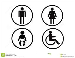icône de symbole de toilettes d incapacité et d enfant de femme de