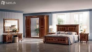 schlafzimmer set bett nachttisch kommode spiegel neu 7tlg