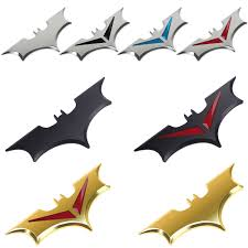 100 Batman Truck Accessories Chrome Metal Badge Emblem 3D Tail Decals Auto Car Motorcycle