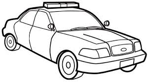 How To Draw Police Car Coloring Page How To Draw Police Car